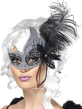 dark-angel-masquerade-mask-with-tie-sides-and-feathers