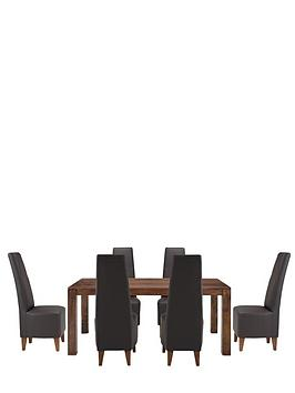 dakota-175cm-dining-table-and-6-manhattan-dining-chairs
