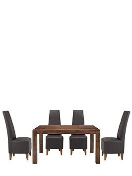 dakota-145cm-dining-table-and-4-manhattan-dining-chairs