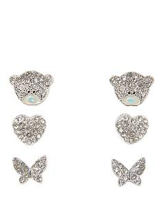 me-to-you-tatty-teddy-silver-plated-stud-earrings-with-crystal-stones-set-of-3