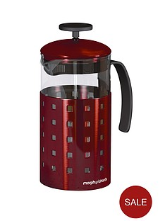 morphy-richards-8-cup-cafetiere-1000-ml-red