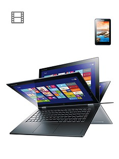 lenovo-yoga-2-pro-intelreg-coretrade-i5-processor-4gb-ram-256gb-storage-wi-fi-133-inch-touchscreen-convertible-laptop-with-free-lenovo-tab-a7-50-7-inch-tablet-silver