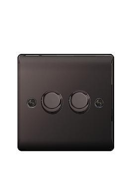 british-general-electrical-raised-2g-dimmer-switch-black-nickel