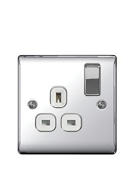 british-general-electrical-raised-1g-switched-socket-13-amp-polished-chrome