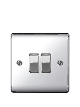 british-general-electrical-raised-2g-2-way-switch-polished-chrome