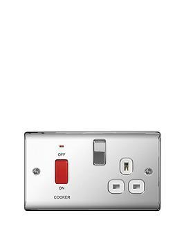 british-general-electrical-raised-cooker-socket-polished-chrome