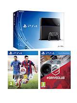 500GB Console + FIFA 15 & DriveClub