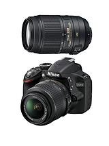 D3200 24.2 Megapixel Digital SLR Camera with 18-55mm VR II and 55-300VR Twin Lens Kit