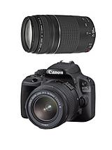 EOS 100D Black SLR Camera DC Kit: EF-S 18-55mm and 75-300mm Lens with 18 Megapixel Digital Camera with FREE Canon Starter Bundle