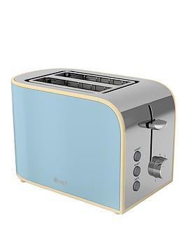 swan-st17020bln-retro-2-slice-toaster-blue