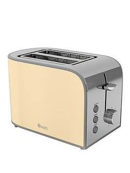 swan-st17020cn-retro-2-slice-toaster-cream