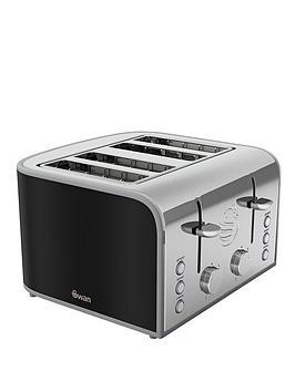 swan-st17010bn-retro-4-slice-toaster-black