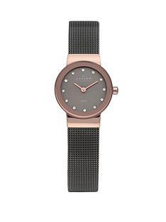 skagen-freja-charcoal-rose-gold-tone-steel-ladies-watch