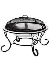 Traditional and Stylish Stainless Steel and Black Firebowl