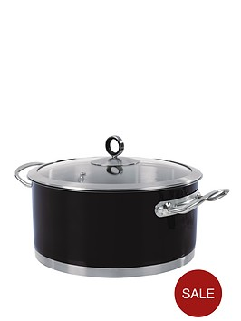 morphy-richards-24cm-casserole-pan-black
