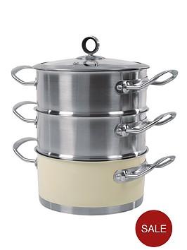 morphy-richards-18cm-3-tier-steamer-cream