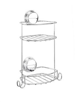 croydex-stick-n-lock-2-compact-tier-storage-basket