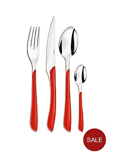 amefa-24-piece-colourful-eclat-cutlery-set-red