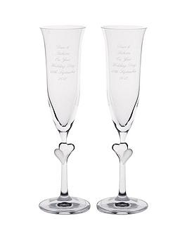 personalised-glass-heart-stem-flutes