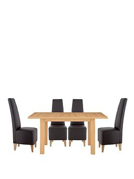 primo-120-160-cm-extending-dining-table-4-manhattan-chairs-buy-and-save