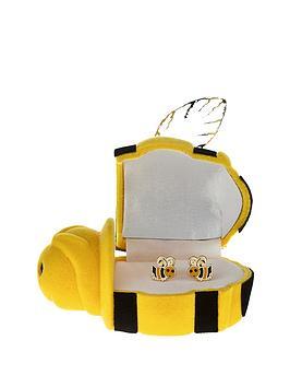 love-gold-9-carat-yellow-gold-enamel-bumblebee-stud-earrings