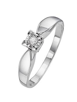 love-diamond-9-carat-white-gold-5-point-illusion-set-solitaire-ring