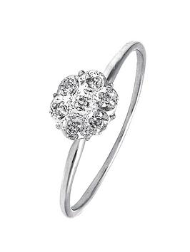 love-diamond-9-carat-white-gold-diamond-set-cluster-ring