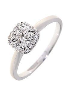 love-diamond-9-carat-white-gold-25-point-diamond-square-cluster-ring
