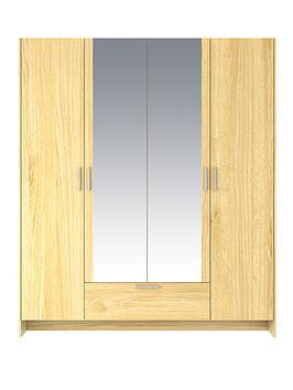 cambridge-4-door-1-drawer-mirrored-wardrobe