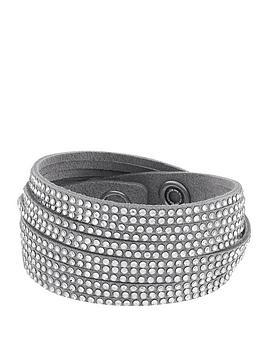 lola-and-grace-wrap-twist-silver-leather-bracelet-with-swarovski-elements