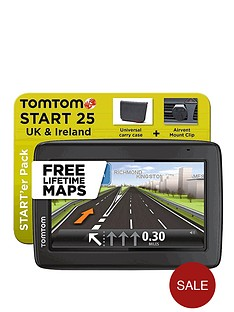 tom-tom-starter-pack-start-25-uk-sat-nav-with-lifetime-maps-and-carry-case-and-air-vent-mount