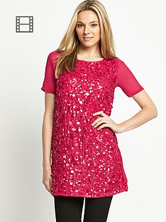 savoir-large-sequin-embellished-tunic