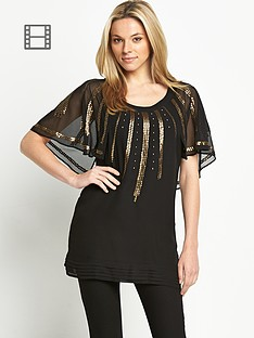 caped-sequin-tunic