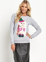Elf-ie Christmas Sweatshirt