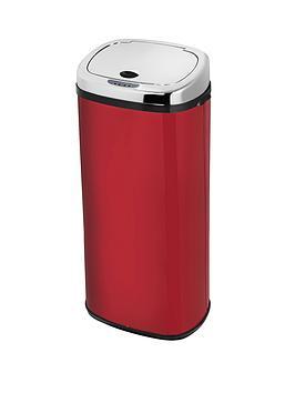 morphy-richards-50-litre-square-sensor-bin-red