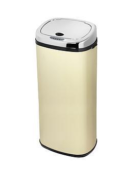 morphy-richards-50-litre-square-sensor-bin-cream