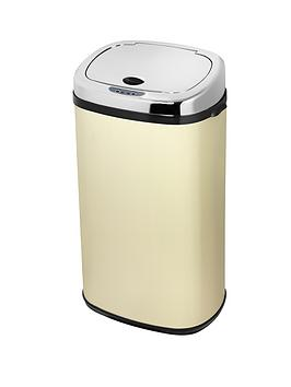 morphy-richards-42-litre-square-sensor-bin-cream
