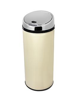 morphy-richards-42-litre-round-sensor-bin-cream