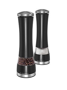 morphy-richards-electronic-salt-and-pepper-mill-set-black