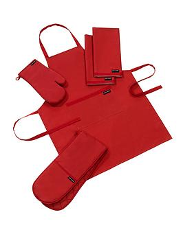plain-and-simple-kitchen-textile-set-red