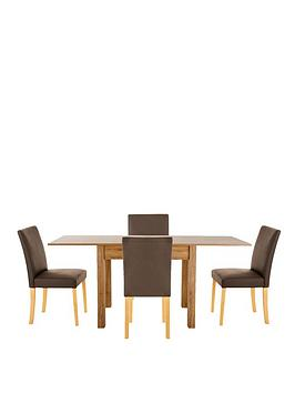 87-174-cm-square-to-rectangle-dining-table-4-lucca-chairs-buy-and-save
