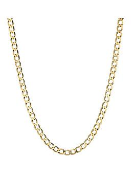 love-gold-9-carat-yellow-gold-solid-diamond-cut-18-inch-curb-chain