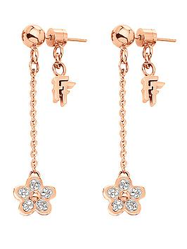 folli-follie-wonder-flower-collection-crystal-set-rose-gold-plated-drop-earrings