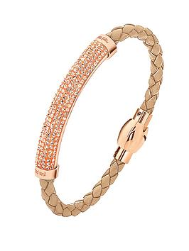 folli-follie-dazzling-champagne-crystal-set-rose-gold-plated-and-caramel-pu-bracelet