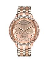 Rose Gold Dial Rose Gold IP Plated Bracelet Ladies Watch