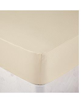 catherine-lansfield-satin-stripe-deep-fitted-sheet