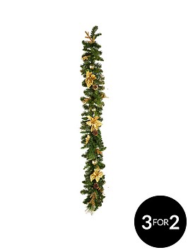 gold-poinsettia-christmas-garland-6ft
