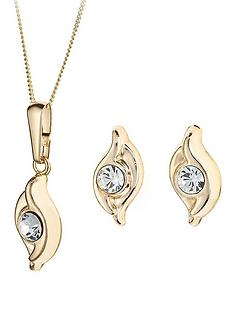love-gold-9-carat-yellow-gold-double-swirl-crystal-earrings-and-pendant-set