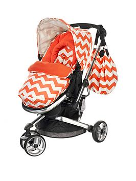 obaby-chase-3-wheeler-pushchair-zigzag-orange