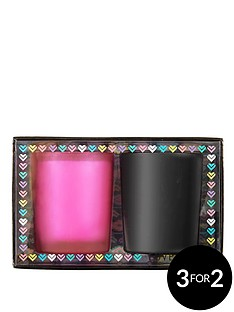 love-label-candle-duo